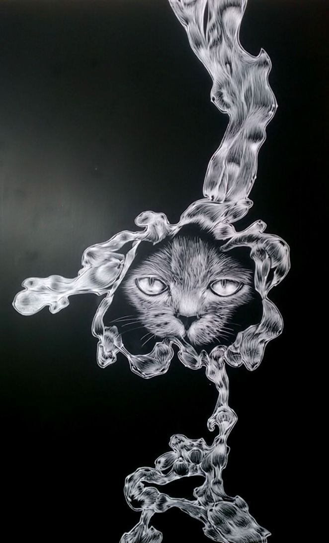 Finished scratch art
