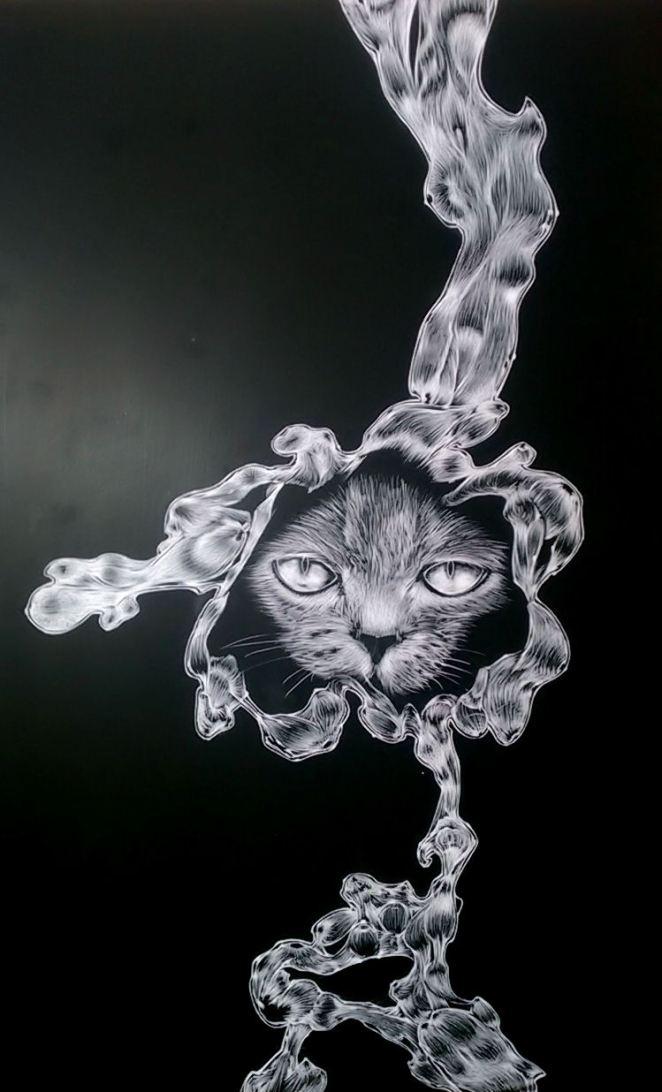 Finished scratch art