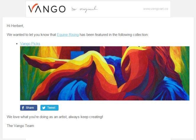Vango Collection Notification